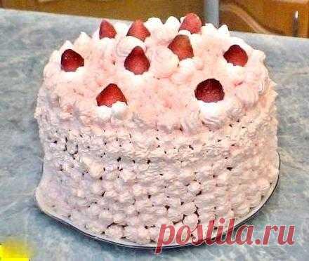 Бисквитный торт мокрое безе рецепт с фото пошагово - 1000.menu