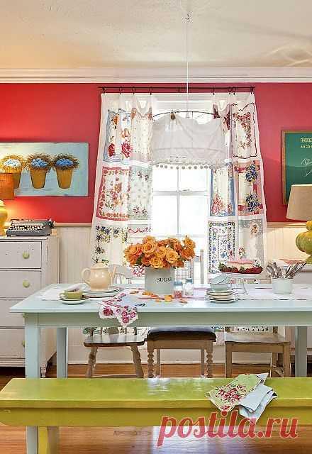 Платочки, мешковина... и другие идеи для интерьера дома.