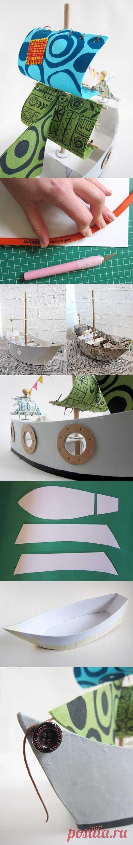 Как сделать кораблик!