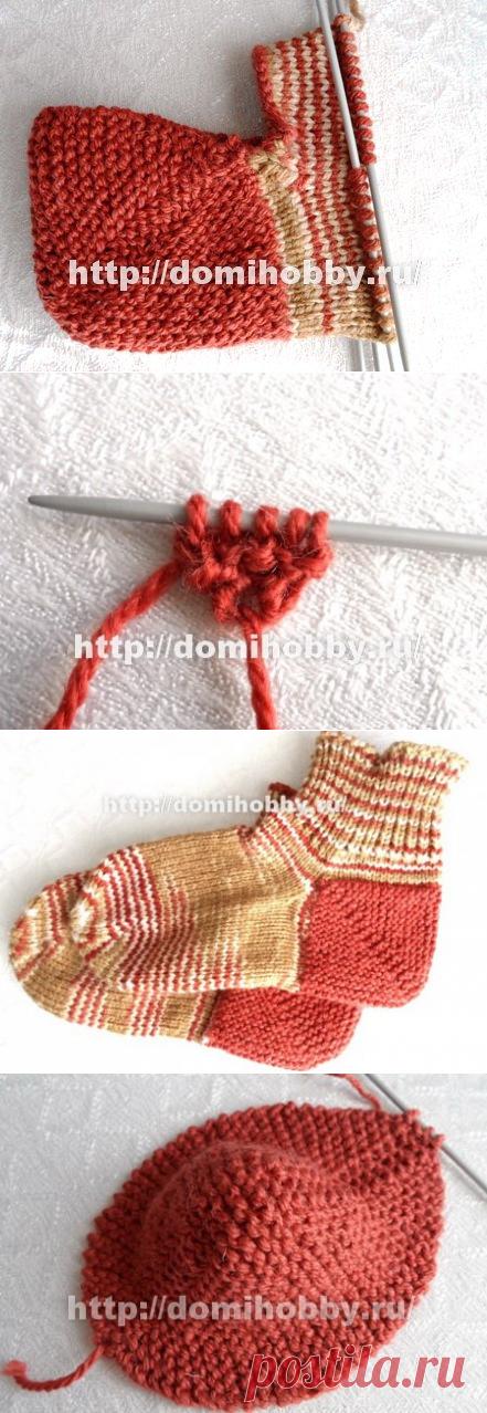 Вязание носков от пятки