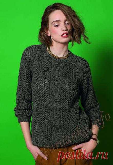 Пуловер (ж) 14*94 Phildar №3888
