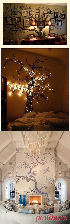 Деревья на стенах (подборка) / Декор стен / Модный сайт о стильной переделке одежды и интерьера