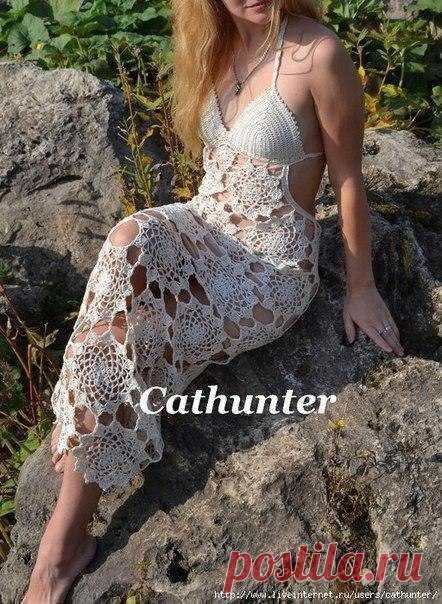 Роскошное пляжное платье крючком  автор cathunter