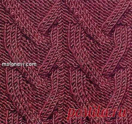 Рельефный узор спицами №22   Вяжем с Ланой