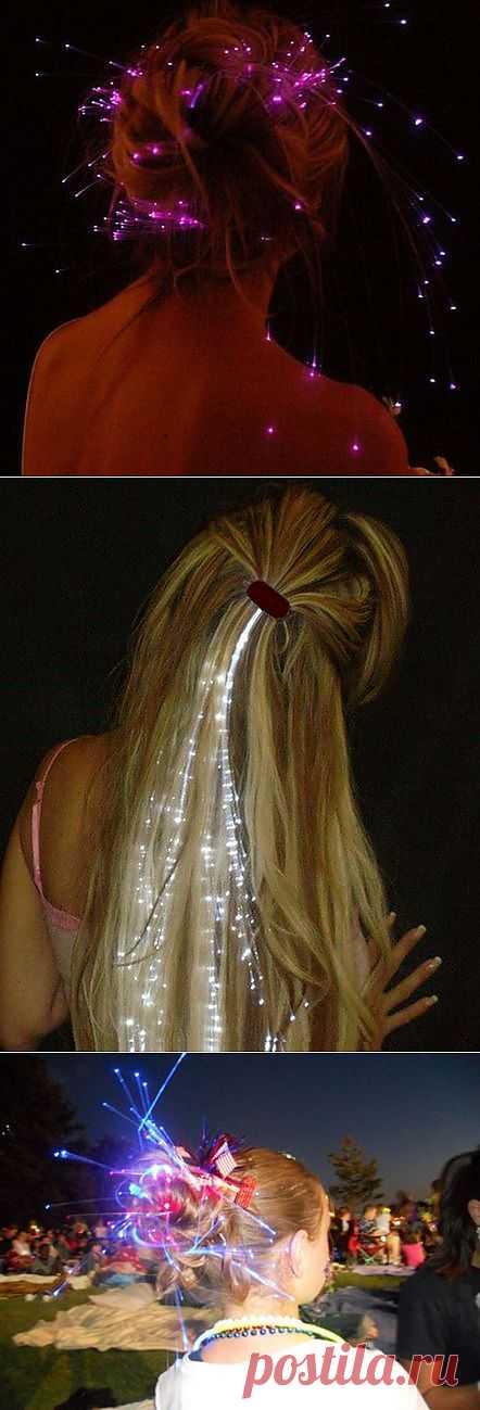 Украшение для волос из световолокна / Украшения и бижутерия / Модный сайт о стильной переделке одежды и интерьера