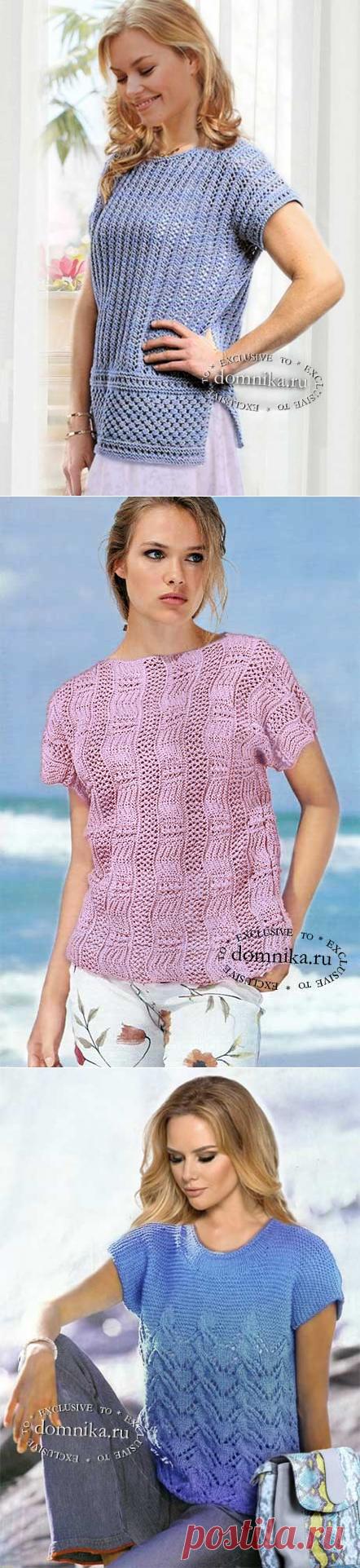 3 летние вязаные кофточки спицами для полных женщин - описания и схемы бесплатно Вязаные туники, блузки, топы, платья