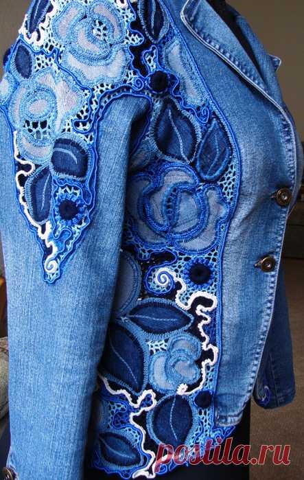 Джинсовая куртка от Натальи Жиленковой
