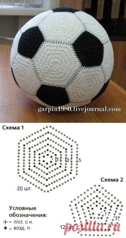 В подарок мужчинам: футбольный мяч крючком