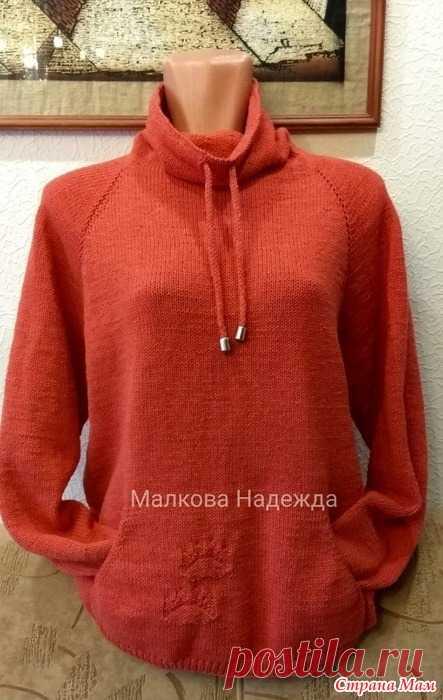 вязание кармана свитшот