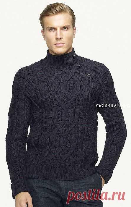 Вязаный пуловер для мужчин от Ralph Lauren | Вяжем с Ланой