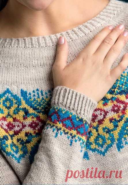 Вязание пуловера Byzantine Pullover - Вяжи.ру