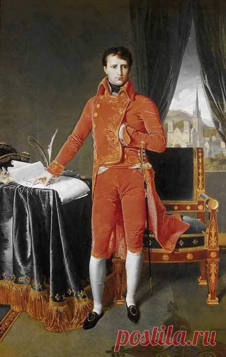 «Наполеон Бонапарт в мундире Первого Консула» картина - Жан Огюст Доминик Энгр