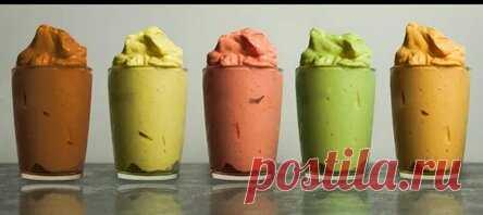 Мороженое без сахара, молока и сливок, пять разных вкусов