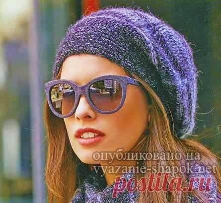 вяжем стильный осенний берет крючком вязание шапок женские шапки
