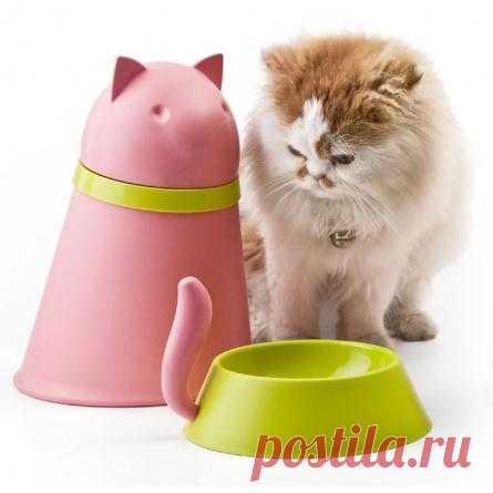 Твоя киска тоже обожает розовый? Подари ей забавную миску для еды