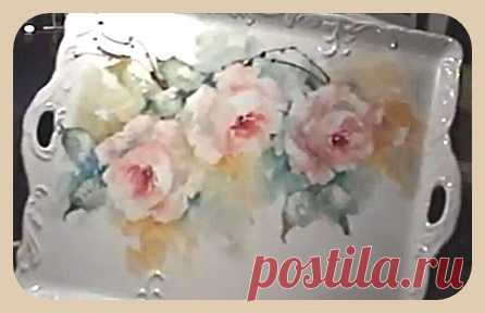 CHINESE ROSES. PORCELAIN LIST. 5 VIDEOS OF THE LESSON