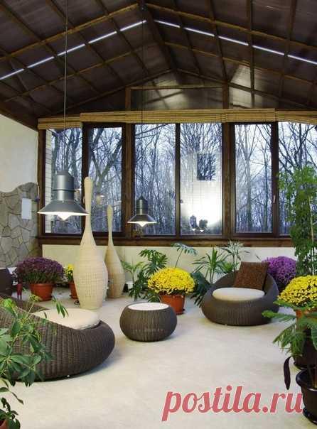 Зимний сад в доме 🌳