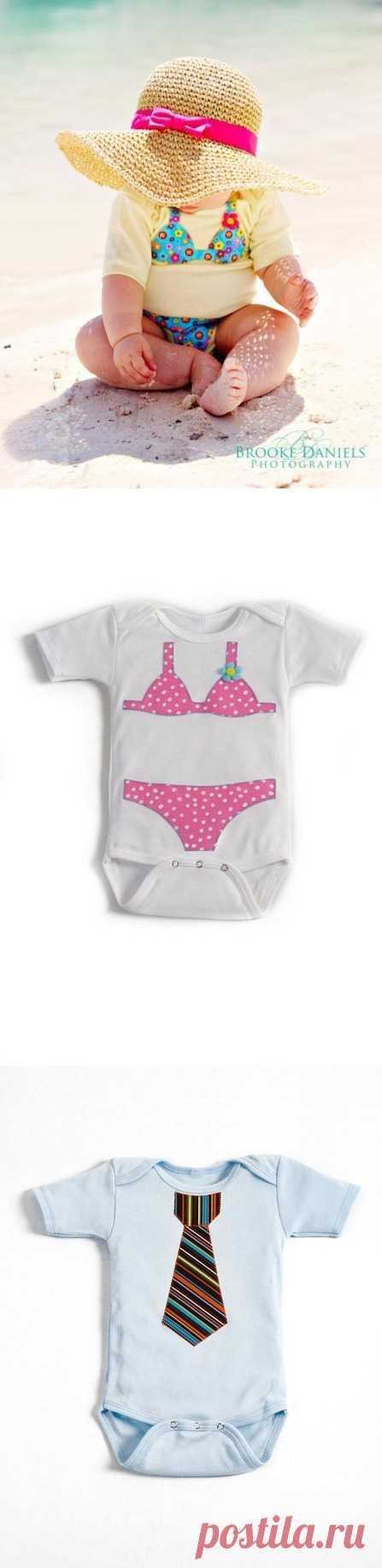 El bikini o la corbata en infantil bodi :)