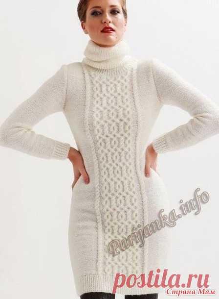 873f5e6c2be Белое платье с аранами - Вязание - Страна Мам