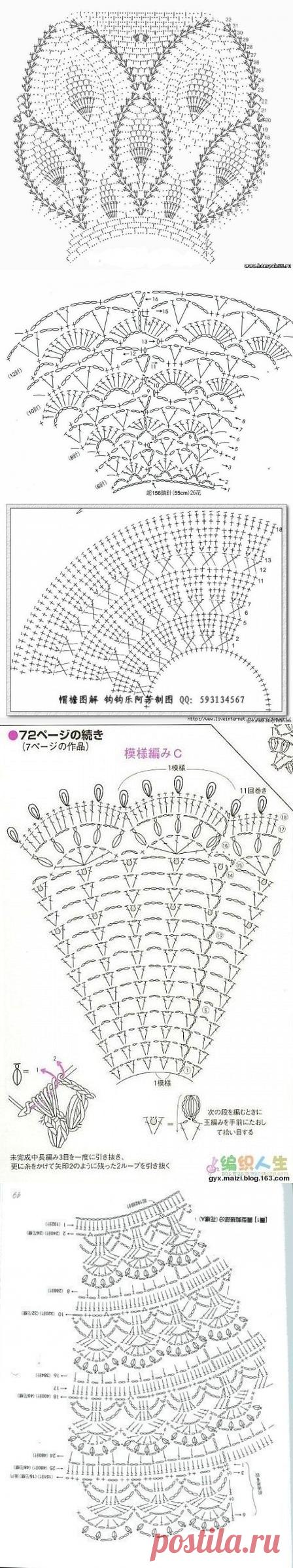 Круглые кокетки крючком — для детских и взрослых платьев и туник (Узоры крючком) | Журнал Вдохновение Рукодельницы