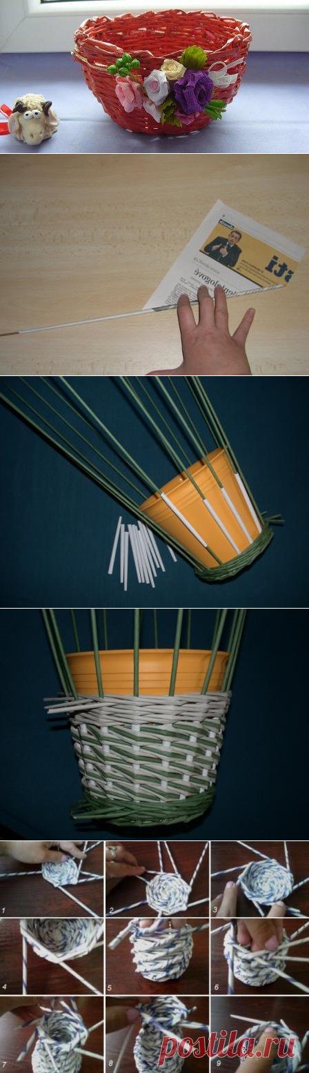 Как сделать корзину пошаговая