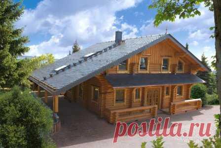 Дома из оцилиндрованного бревна - фото #дом_из_оцилиндрованного_бревна