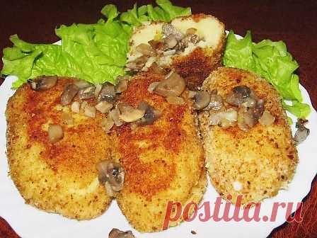 Зразы картофельные с грибами   ГОТОВИМ ВКУСНО И ПО-ДОМАШНЕМУ