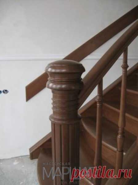 Лестницы, ограждения, перила из стекла, дерева, металла Маршаг – Лестницы с балюстрадами из дерева