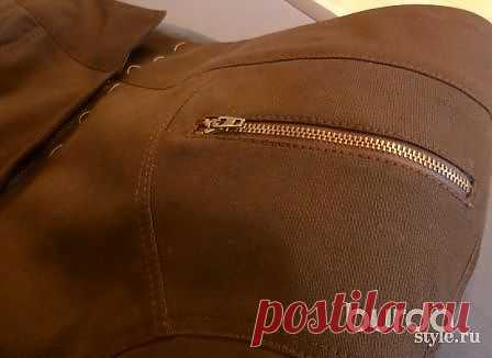 Прорезной карман на молнии - техника шитья - Мастер-класс