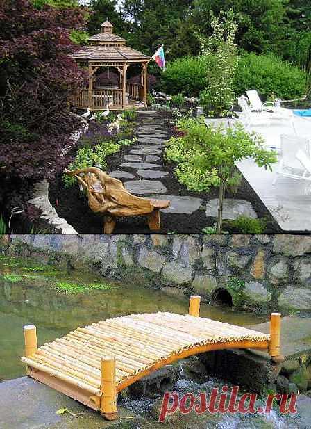 Малые архитектурные формы в саду: назначение и виды