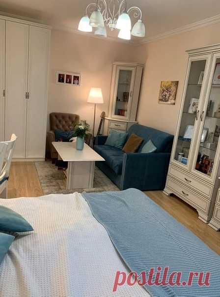 Спальня+гостиная+рабочая зона! Все замечательно получилось