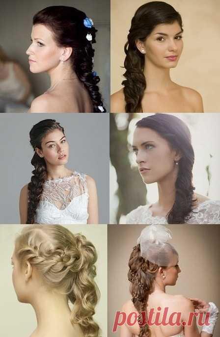 Прически свадебные с косами – самый женственный образ невесты