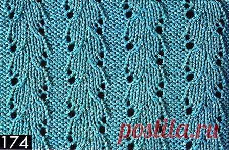 Схемы для вязания простых ажурных узоров спицами | Рукодельница
