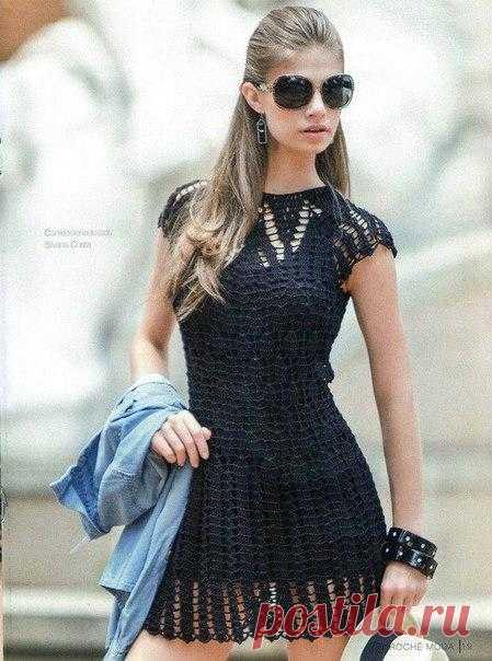 Маленькое черное платье (крючок) — HandMade