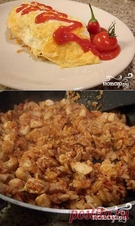 """Рецепт приготовления омлета современной японской кухни. В Японии еще его называют Васай-эйго (wasei-eigo), в Англии известен как """"Японский чемодан"""" (Japanese portmanteau)"""