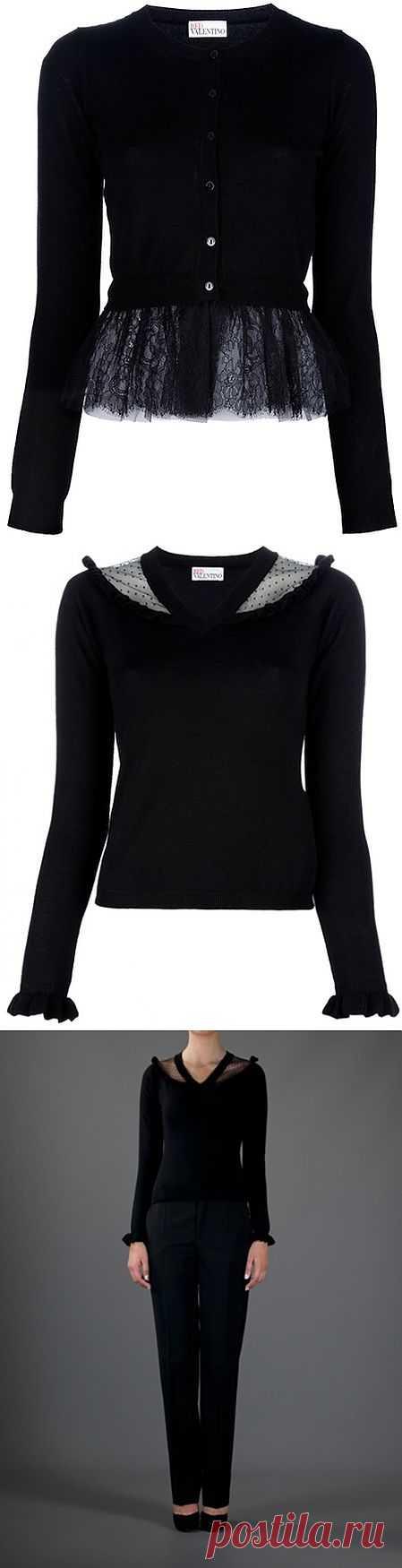 2 вида свитеров с кружевными вставками / Свитер / Модный сайт о стильной переделке одежды и интерьера