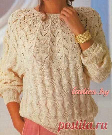 Вязаные свитера спицами женские схемы, описание и видео ...