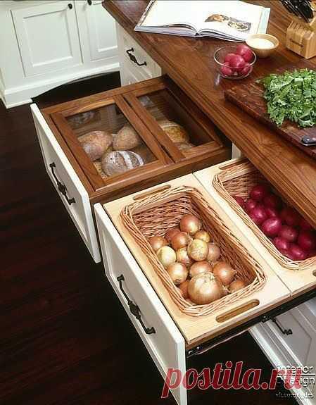 Идея для кухни: просто, удобно