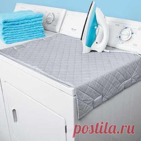 Магнитный коврик для глажки белья. Находка для маленьких квартир. Можно купить за $9.09 на amazon.com.
