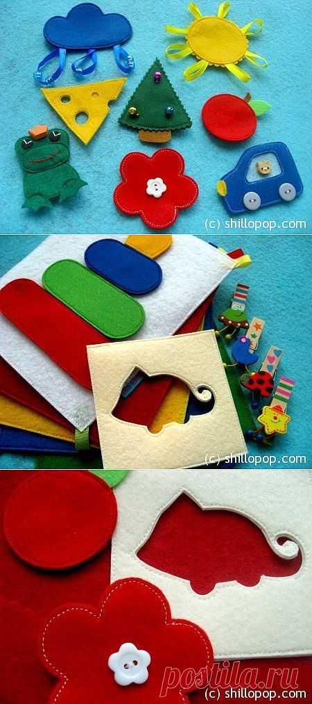 Развивающие игрушки от Shill O'POP » Приключения хамелеона в цветной книжке