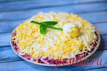 Слоеный салат со свеклой подснежник на праздничный стол – пошаговый рецепт с фотографиями