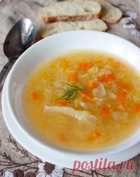 Капустный суп. (Рецепт по клику на картинку).