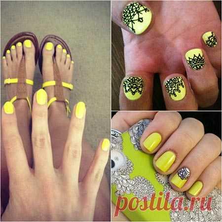Идеи желтого маникюра — Модно / Nemodno