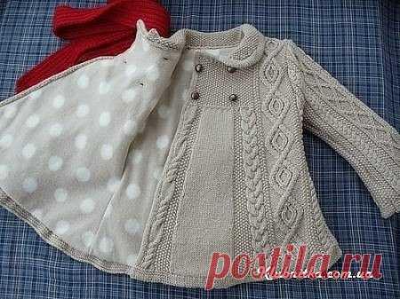 шикарное вязаное пальто для девочки описание пальто элизабет по
