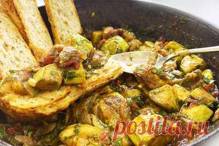 Сицилийская капоната из кабачков – пошаговый рецепт с фотографиями