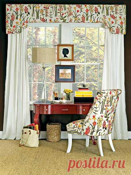 Текстильная композиция в доме