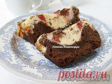 Шоколадный пирог с творогом и малиной (рецепт с фото)   RUtxt.ru