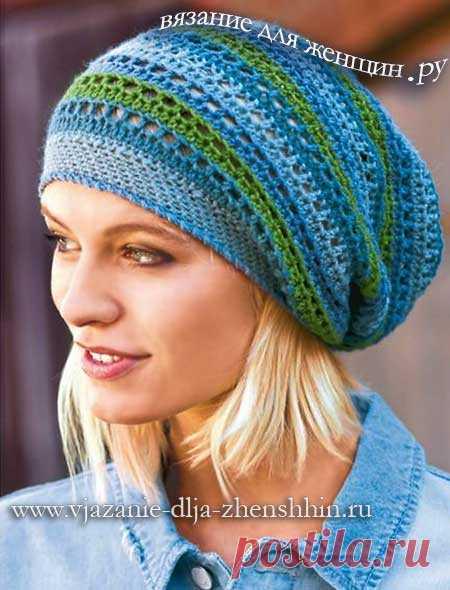 Вязаная шапка на весну | Шапочки : осень-зима. | Постила