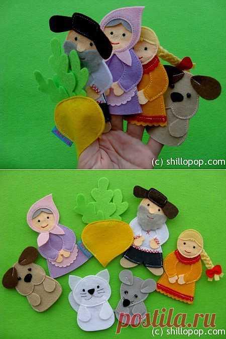 Развивающие игрушки от Shill O'POP » Пальчиковый театр «Репка»