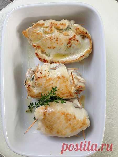 Куриная грудка, фаршированная шпинатом и козьим сыром!